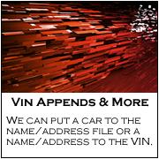 Auto Vin Appends